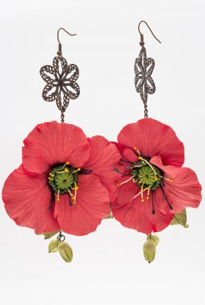 EARRINGS POPPIES