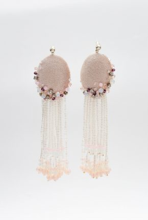 EARRINGS PINK & MILK VISHY