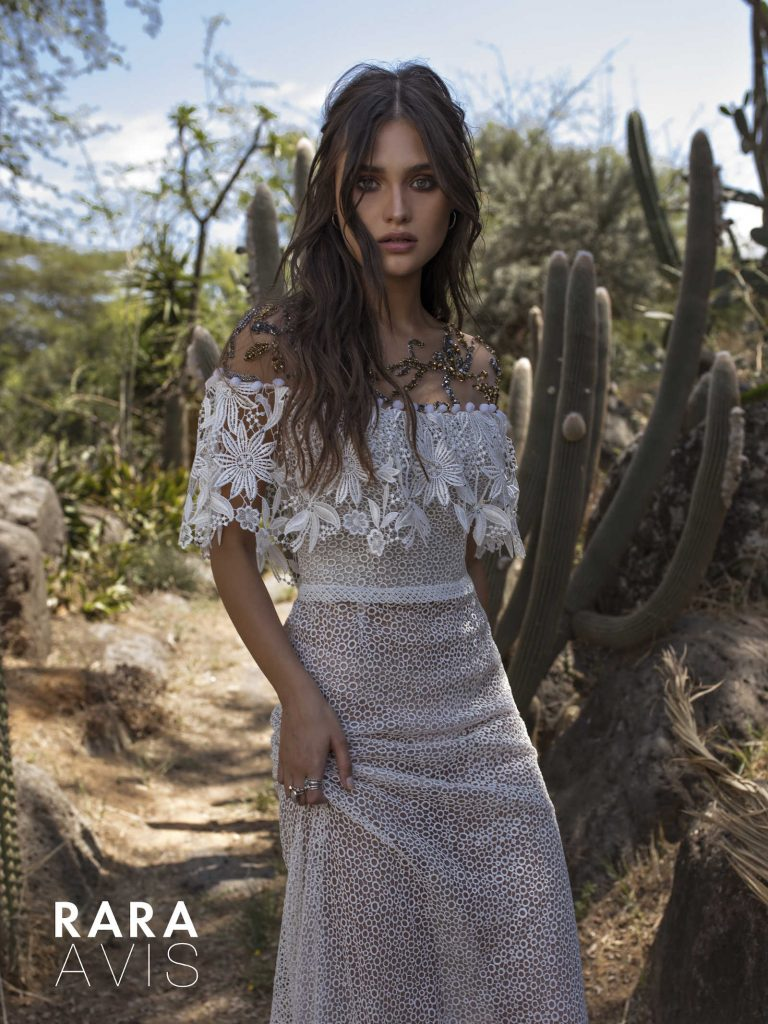The Hoype - floral lace wedding dress from Dell'Amore Bridal's Wild Soul collection