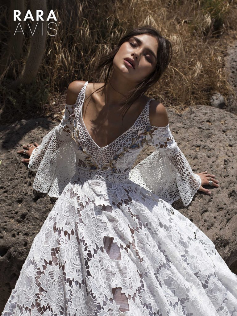 The Aliet - floral lace wedding dress from Dell'Amore Bridal's Wild Soul collection