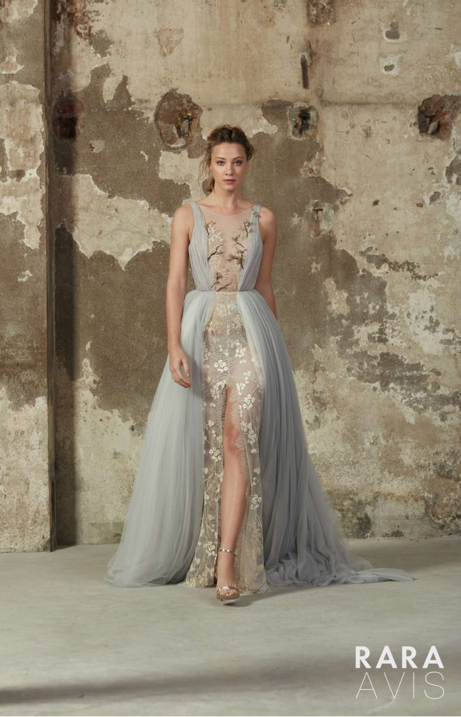 Alize blue wedding dress from Dell'Amore Floral Paradise Collection