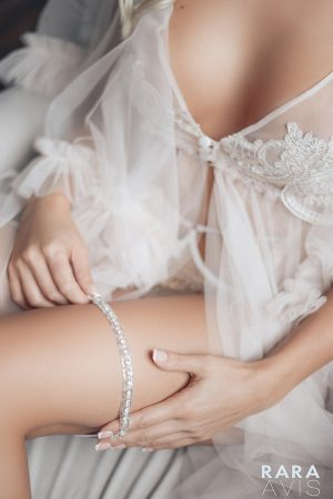 crystals wedding garter