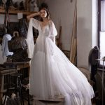 Bivia wedding dress with charming sleeves from Dell'Amore Bridal