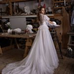 Wedding dress Letrin with Long Sleeves available from Dell'Amore Bridal
